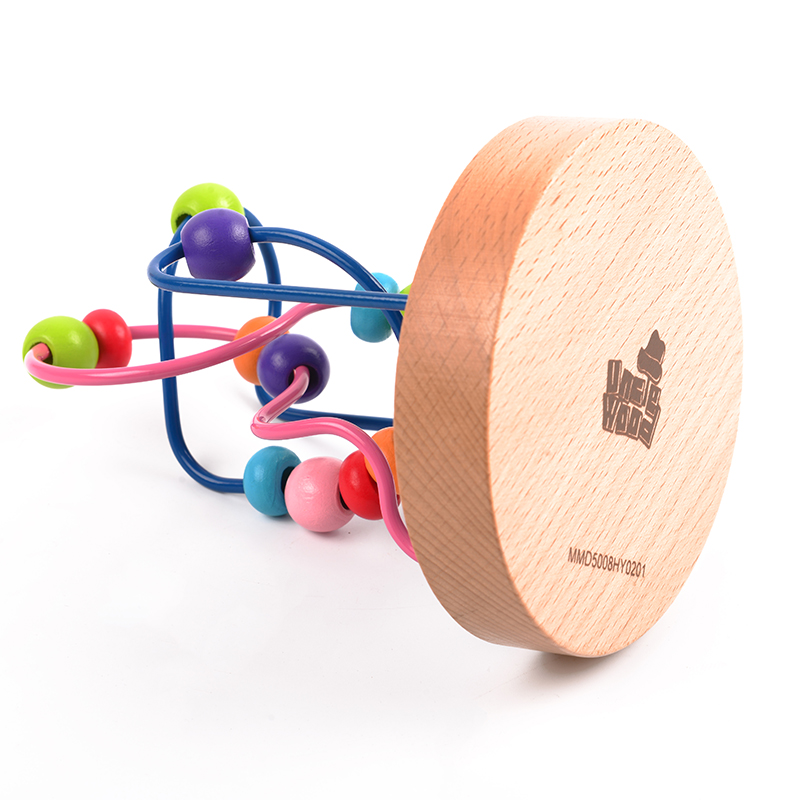 伍德绕珠玩具 宝宝益智绕珠串珠玩具早教婴儿智力积木玩具0-2岁
