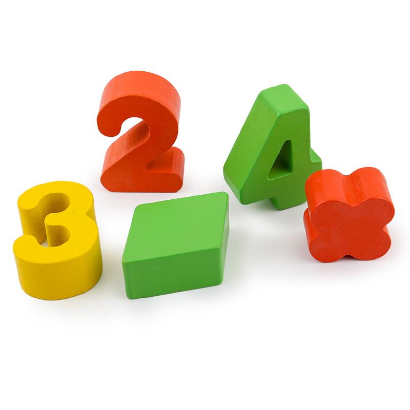 蒙特梭利教具 数学早教圆柱体积木幼儿童益智力开发玩具男孩女孩