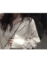 Design Sense V-neck Knitted Shirt Women's Autumn and Winter 2018 New Thickened Pullover Bottom Blouse Sweater Loose Top