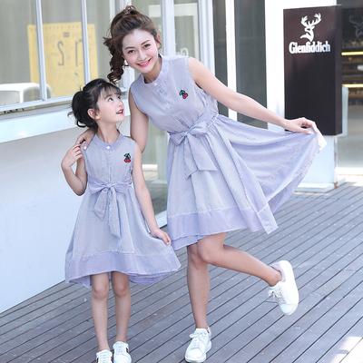 亲子连衣裙2018新款夏装母女装女童韩版时尚夏季公主裙中大童裙子