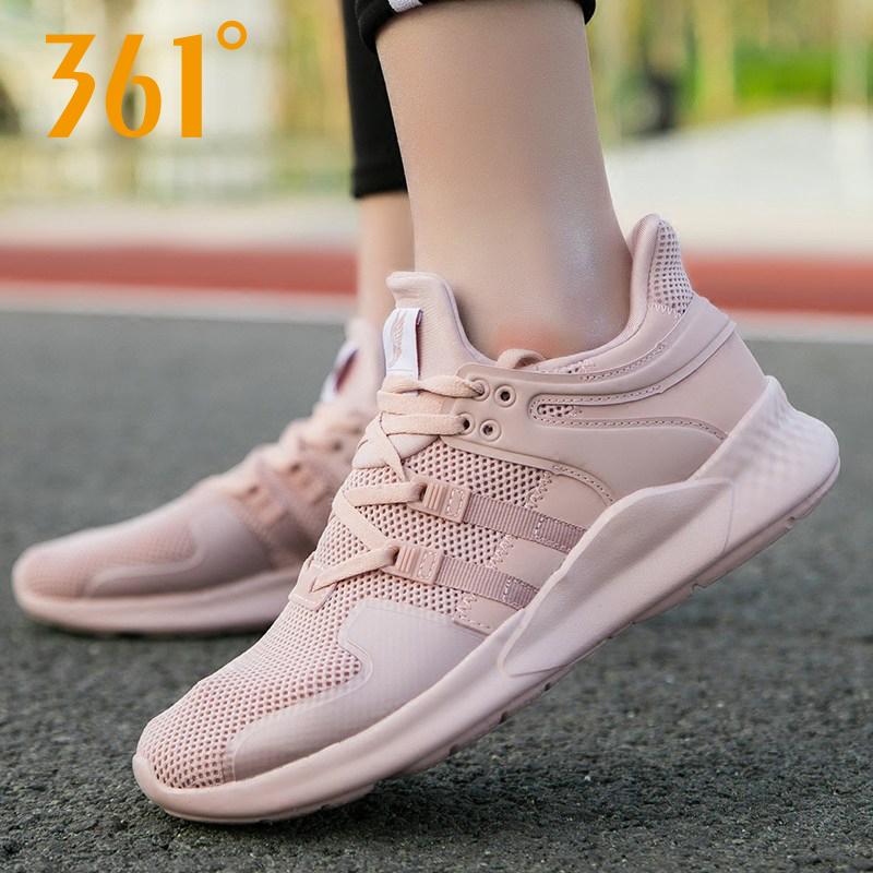 361度女鞋跑鞋2019夏季网鞋361运动鞋女网面透气轻便休闲跑步鞋N