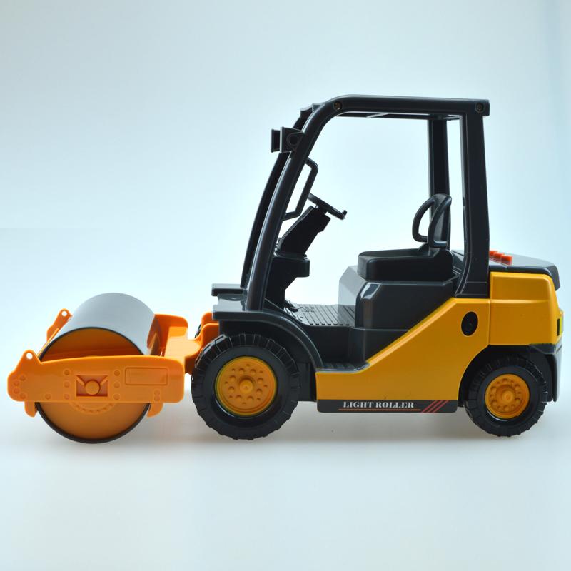 力利工程车 大型惯性声光压路机 轮式压路机儿童惯性车玩具车模型