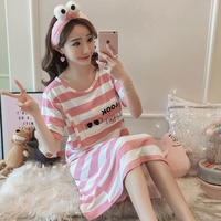 Postpartum summer thin section short-sleeved nursing month clothes cotton nursing nightdress out female pregnant women pajamas dress summer