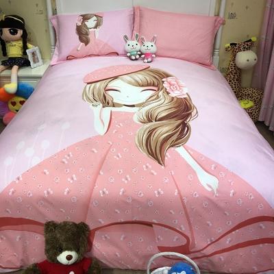 全棉儿童床上用品四件套卡通女孩纯棉1.2米床品三件套1.5m床笠1.8排行榜