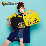 B.Duck small yellow duck ipad tablet bag Apple air10.5 inch female portable cute liner storage bag