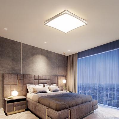 卧室灯 简约现代创意个性新款曲面LED吸顶灯大气主房间灯具书房灯