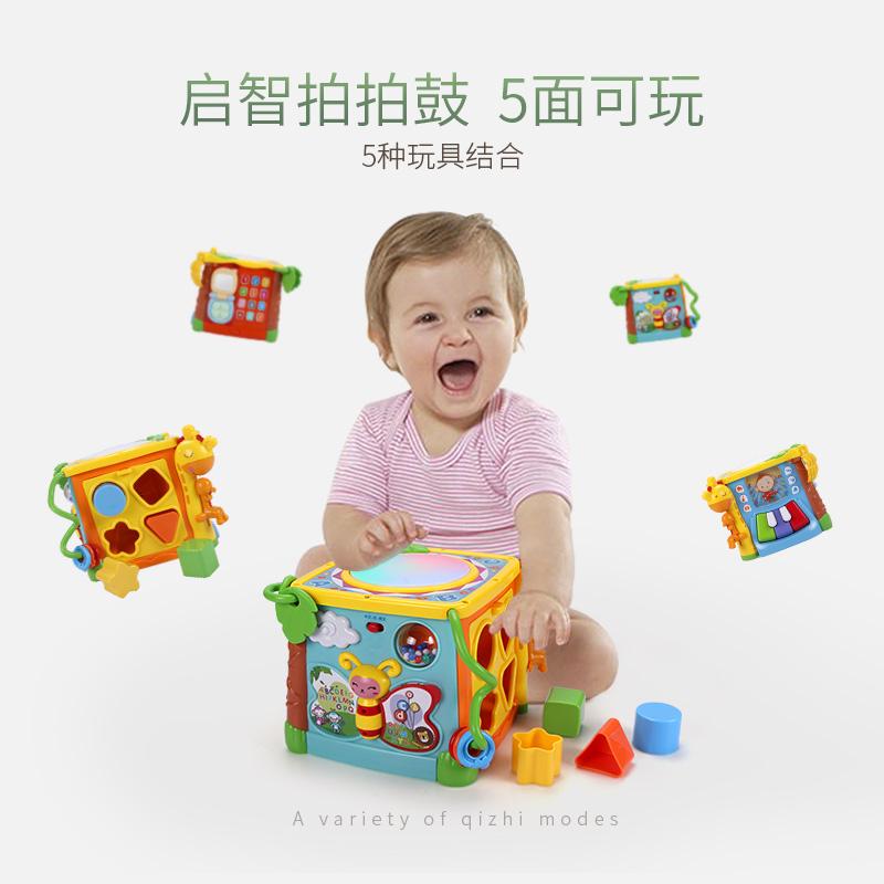 谷雨学步车手推车婴儿助步6-7-18个月音乐玩具防侧翻宝宝游戏桌台