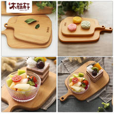 Mu Ya Xuan baby food supplement whole wood small board solid wood chopping board cutting board dormitory cut fruit cutting board mold home