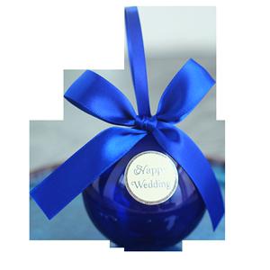 花半里婚礼星空圆球透明喜糖盒结婚蓝色创意个性糖果礼盒抖音同款