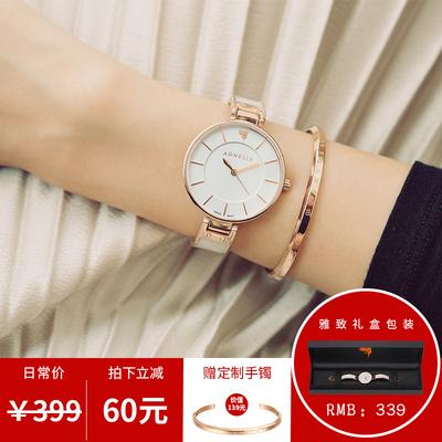手表女简约防水女式手表时尚款2018新款大表盘超薄石英表女士手表特价精选