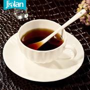 嘉兰纯白骨瓷咖啡杯碟套装欧式茶具英式下午茶杯意式陶瓷创意杯子
