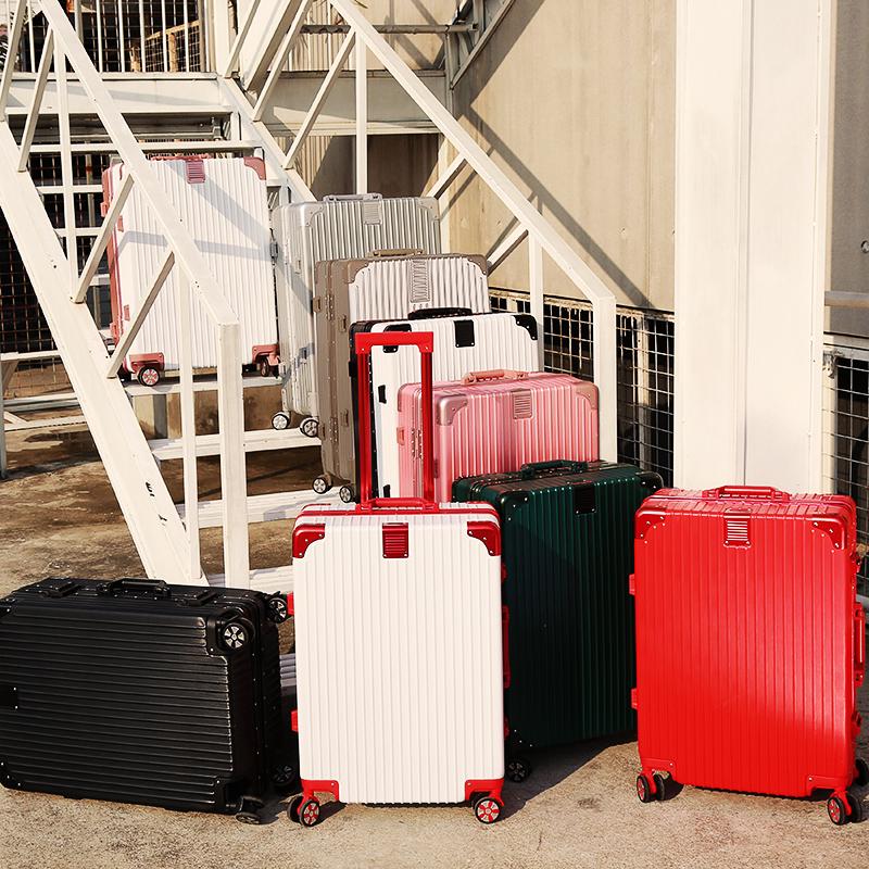 行李箱万向轮铝框拉杆箱20旅行箱24学生密码箱包男女皮箱子26寸28