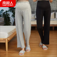 Pregnant women home pants autumn thin section maternity pants leggings wide legs loose wear pregnant women sleep pants autumn trousers