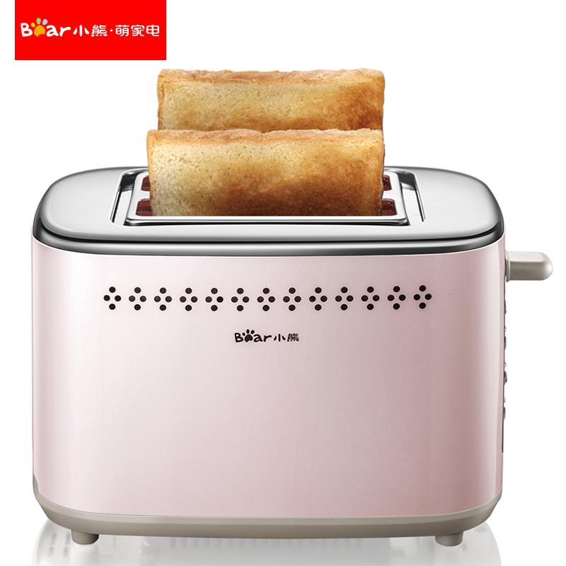 烤面包机家用早餐吐司机2片全自动土司机不锈钢迷你小熊多士炉