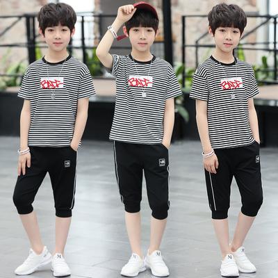 男童夏装短袖套装三四五六七八九十岁男孩儿童衣服韩版时尚两件套