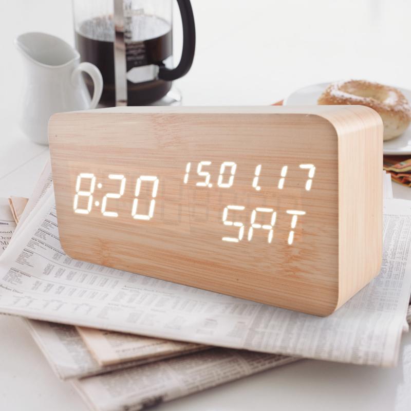 学生静音床头夜光木质闹钟3元优惠券