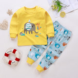 Children's cotton underwear set 2 baby autumn clothes long pants 4 baby thermal underwear men and women children's clothing sleeping clothes 6 years old
