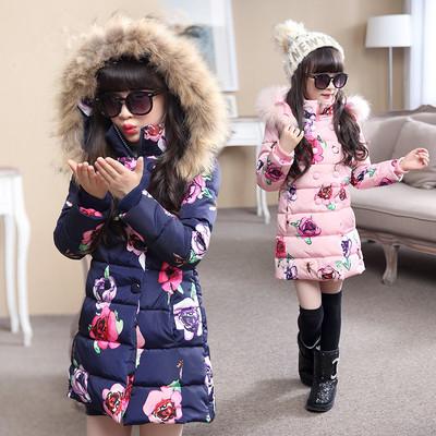女款童装6女童棉衣外套冬装中大童8女孩10宝宝加厚棉服中长款12岁