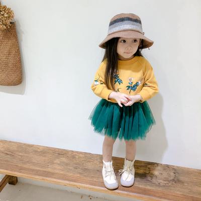 女童秋装2018新款卫衣套装儿童韩版两件套裙子宝宝秋冬季加绒上衣