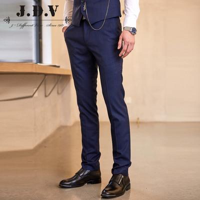 JDV男装 2018春夏商场同款 商务暗格修身西裤长裤男裤 SPF8028BEG