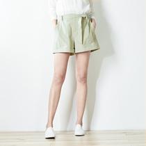 布景短裤女夏2018新款显瘦高腰时尚休闲黑色棉薄款阔腿裤