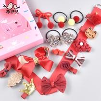 儿童发饰套装韩版公主宝宝发夹小女孩发绳发带饰品女童头饰礼盒