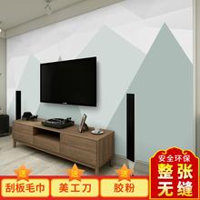 北欧简约几何自粘墙纸电视背景墙壁画 3D立体壁纸无纺布卧室墙布