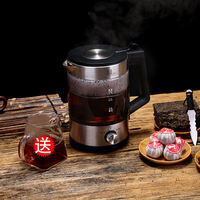 Tea maker black tea boiled teapot glass electric kettle home automatic flower teapot steam Pu'er white teapot