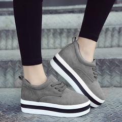 女生厚底松糕单鞋
