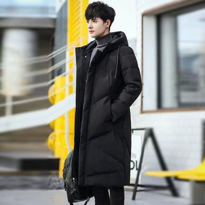 冬装加厚中长款棉衣男过膝加大码羽绒棉大衣韩版潮流保暖棉袄外套