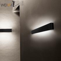 过道长条形壁灯三色调光北欧酒店墙LED现代简约卧室壁灯床头客厅