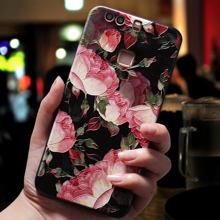 华为p9手机壳个性创意中国风p9plus女款软硅胶全包边防摔潮挂绳套