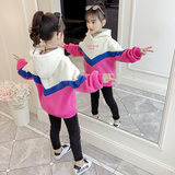 Girls' clothing spring and autumn thin 2019 new foreign air casual long-sleeved Korean version of the Korean version of the loose top