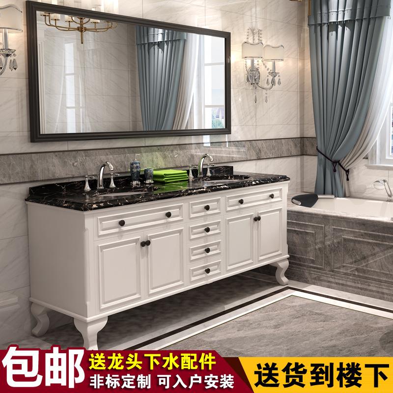 欧式双台盆卫浴柜