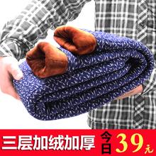 冬季中老年人松紧高腰驼绒棉裤加绒加厚老人棉裤女宽松奶奶保暖裤