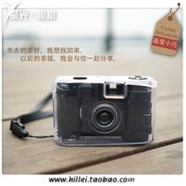 ins小黑时尚水晶相机135胶卷傻瓜菲林机械复古节日生日礼物轻便携