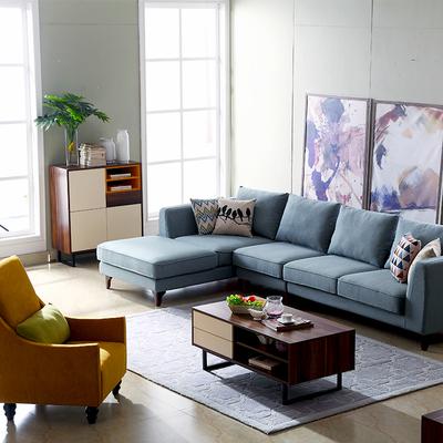 布艺北欧沙发组合三人小户型可拆洗客厅简约田园日式韩式休闲贵妃有假货吗