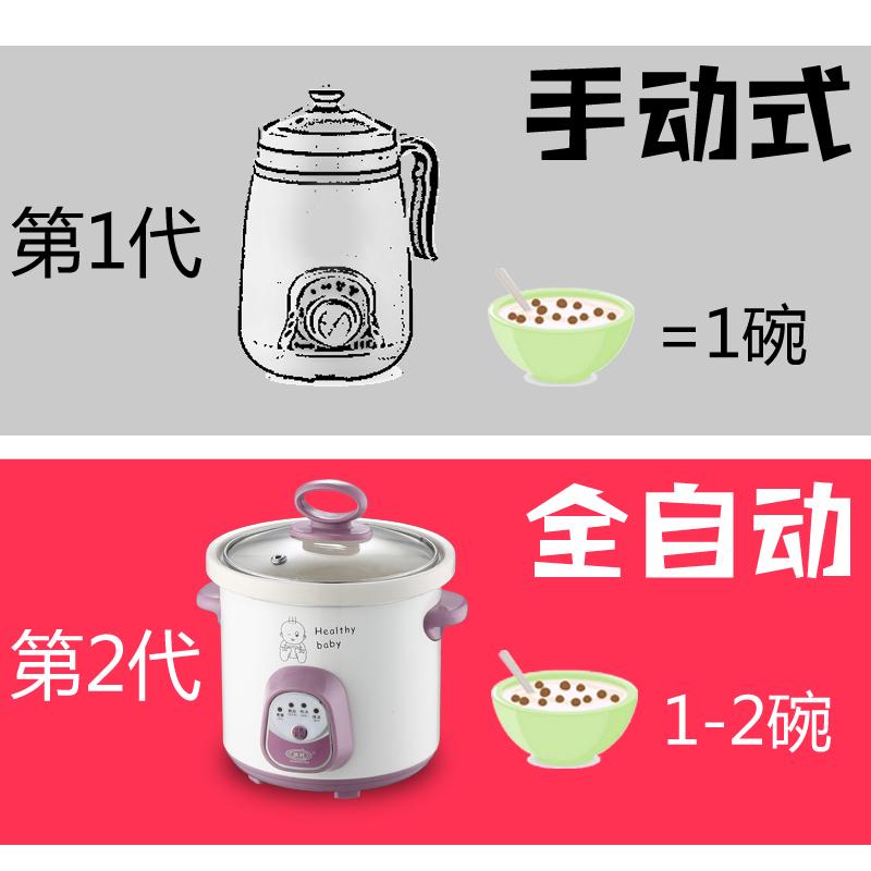 办公室养生杯陶瓷电热水杯迷你旅行电炖杯煮粥杯烧水杯牛奶加热杯