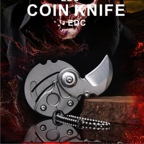户外迷你钥匙挂扣不锈钢硬币钱币小折刀EDC多功能刀具特价可刻字