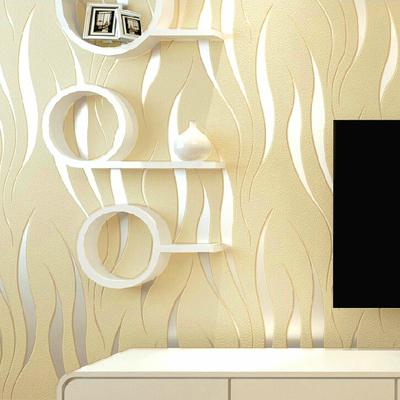 現代簡約波浪曲線條紋3D立體雕刻無紡布壁紙客廳走道臥室背景墻紙最新最全資訊
