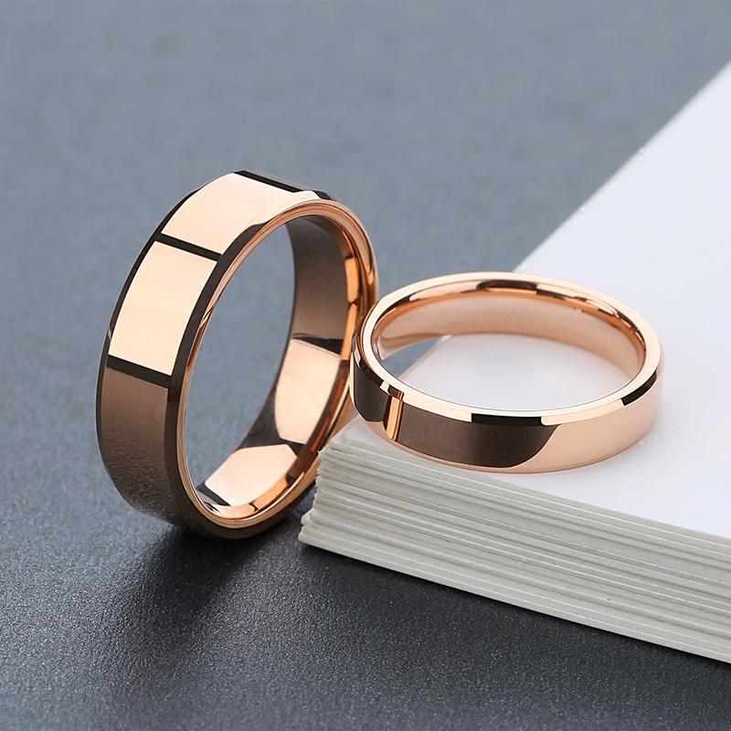 戒指情侣礼物彩金食指环女镀18K玫瑰金时尚正品大气男结婚对戒潮图片