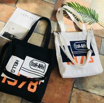 新款帆布包可拆卸两用单肩包帆布斜挎包时尚简约大个手提包购物袋