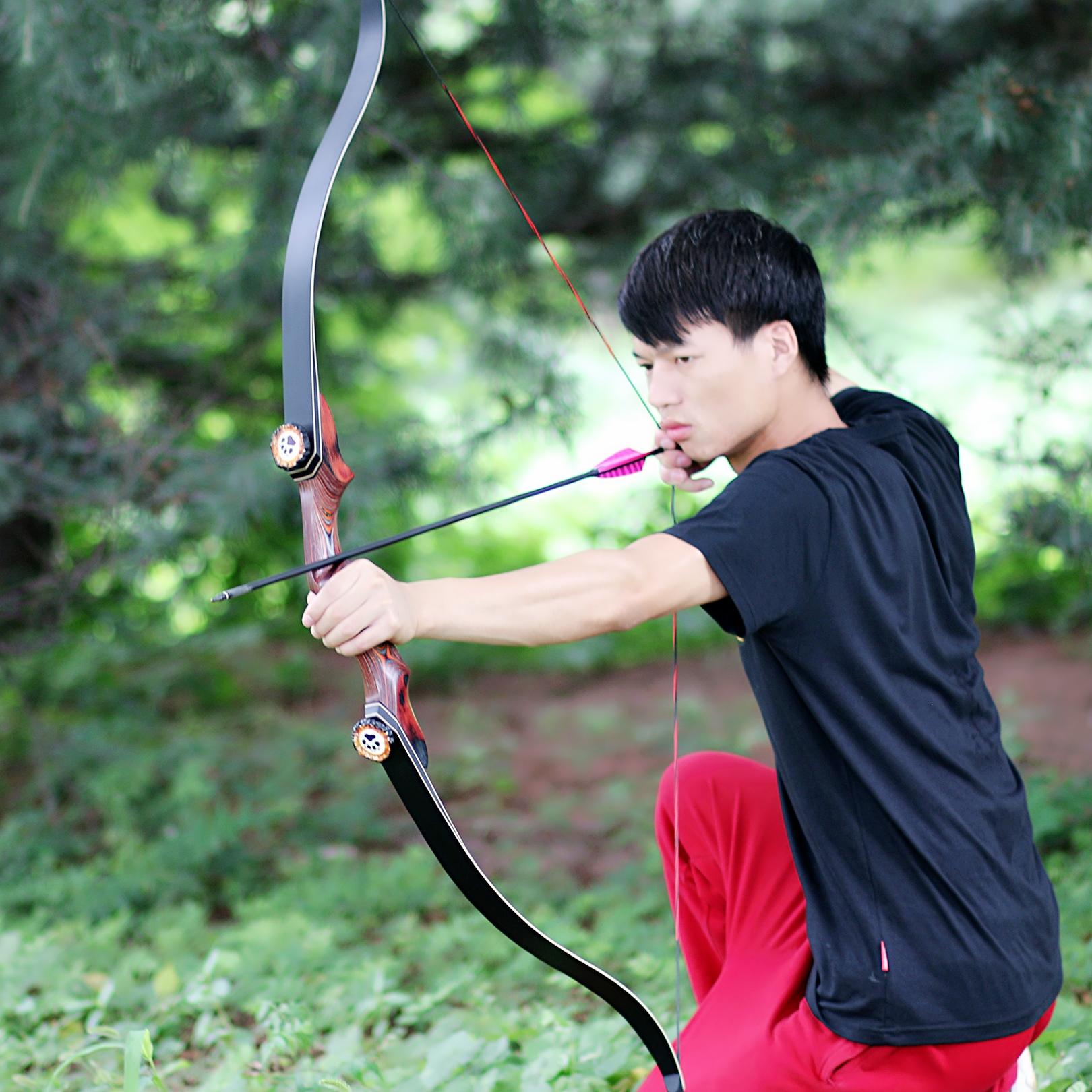 猎火弓箭反曲弓竞技运动射击精灵王子美式猎弓进口弓片纯手工制作