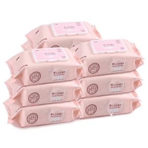 沐阳婴儿湿巾新生儿宝宝湿纸巾手口屁专用80抽5包成人大包装特价