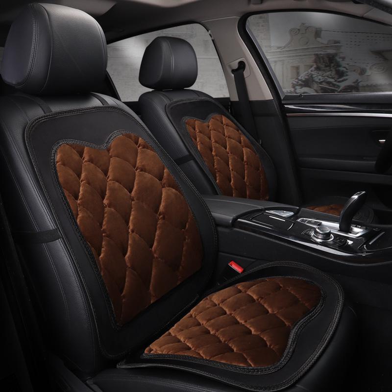 东风雪铁龙C5C6C2C4世嘉冬季毛绒汽车坐垫单片单张单个羽绒棉座垫