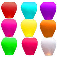 Thicken hole light flame retardant wishing lamp lotus lamp sky light river lamp manufacturers low price wholesale package 50 one pack