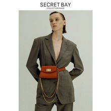One-gram SECRET BAY Head-coat Cowskin Waist Bag with One Shoulder and Oblique Span for Baonu New Package for 2019
