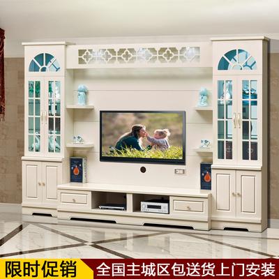 韩式电视墙柜整体影视墙组合厅柜欧式TV柜酒柜客厅背景墙柜包邮