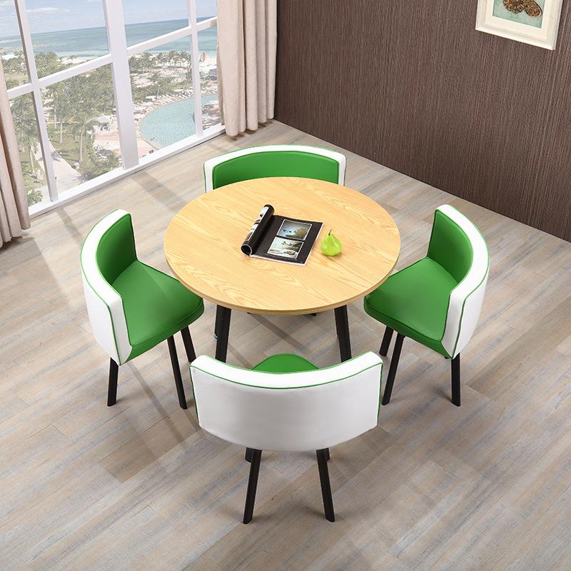 洽谈圆桌椅组合现代简约商务创意休闲谈判接待会客休息区一桌四椅