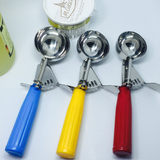 High-grade 304 stainless steel ice cream scoop sorbet spoon fruit dig ball ice cream ball spoon ice cream 羹
